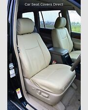Toyota Land Cruiser Tailored Waterproof Seat Covers Beige Leatherette 2007+