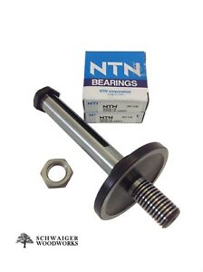 Delta Right Tilt Unisaw Tablesaw Arbor with Blade & Pulley Nut, 2 Bearings - NEW