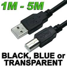 USB 2.0 Type A Male to B Printer Cable for HP Canon Dell Brother Epson Xerox