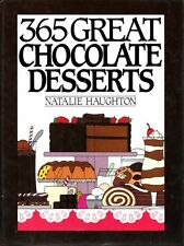 365 Great Chocolate Desserts Haughton Brownies Fudge Pudding Tarts Cookbook 35
