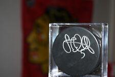 Steve Montador SIGNED Puck Chicago Blackhawks #5 NHL Hockey