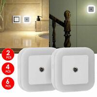 0.5W Plug-in Auto Sensor Control LED Night Light Lamp for Bedroom Hallway Bath