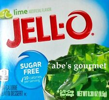 JELL-O Sugar Free Low Calorie Gelatin Dessert: Lime (4 Pack) .30 oz Boxes