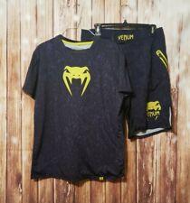 Venum Fight Mma Rashguard Shorts Shirt Set 2pc Size Small Purple Green