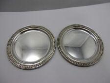 2 Untersetzer/ Coaster Silber 800 punziert Akanthusblatt #2