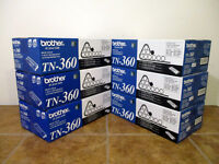 NEW BROTHER TN-360 OEM Genuine Black Toner Print Cartridge Sealed
