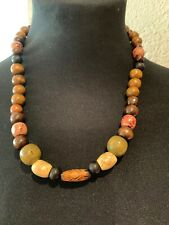 """Large Jump Rings Approx 19.5 -20.5"""" Assorted Wooden Beaded Necklace With 2 Extra"""