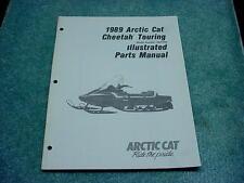 Arctic Cat 1989 Parts Manual Cheetah Touring Snowmobile Book OEM #212