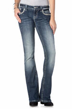 Miss Me Womens Jeans Glitzy Zebra Relaxed Fit Boot Zebra Patch Flap Pocket Sz 26