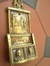 Reclaimed Antique Original Brass Door Knocker Scotland Burns Meeting With Scott