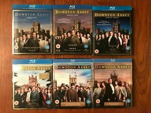 DOWNTON ABBEY 1-6 COMPLETE SERIES COLLECTION Blu-ray Region B Disc's VGC