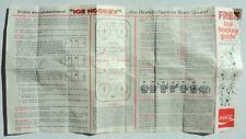 1966 Coke Coca Cola Foldout Hockey Guide - FLASH SALE