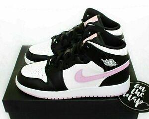 Jordan 1 Retro Mid Light Arctic Pink Schwarz Weiß EUR 35-40 Neu