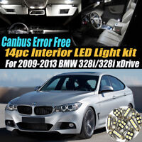 14Pc Error Free Car Interior LED White Light Kit for 2009-2013 BMW 328i/xDrive