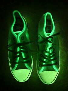 Converse Chuck Taylor All Star Clear Glow In the Dark Sneakers Men's 6 Women's 8