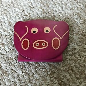 NEW - Real leather pig purse. Stocking filler. FREE POST