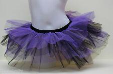 Two Coloured Tutu Purple & Black cyber rave hen party 80's fancy dress
