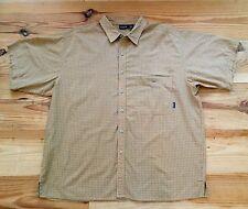 Men's PATAGONIA Cotton Blend Plaid Shirt XLarge Orange Yellow Checks Nice!