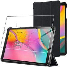 Cover a portafoglio compatibile per Samsung Galaxy Tab A 10.1 2019 T515 + Vetro