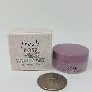 Fresh Rose Petal-Soft Deep Hydration Lip Cream Balm Travel Size 0.07 oz/2g NIB