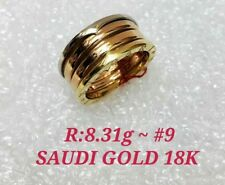 GoldNMore: 18K Gold Ring Tri Color White/Yellow/Rose Gold 1 pc Size 9 8.5 7 6