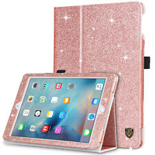 For New iPad 2018/2017 9.7 Magnetic Glitter Faux Leather Folio Stand Cover Case