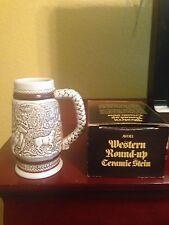 Avon Western Roundup Miniature Ceramic Stein - 1983