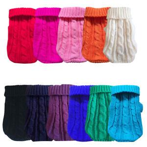 XXXS XXS XS Pet Dog Warm Jumper Knit Sweater Clothes Puppy Cat Warm Coat Apparel