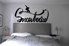 Wall Decal Sticker bedroom snowboard quote logo sport snow boys nursery bo2734
