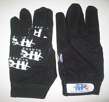 Gloves Mechanics Work Glove Large L Black Padded Leather Palm Nylon Back Strap