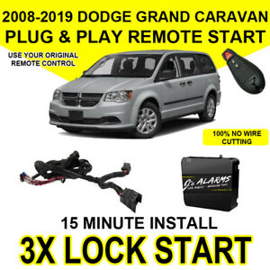 2008-2018 Dodge Grand Caravan Remote Start Add On Factory Key FOB 3X Lock CH4