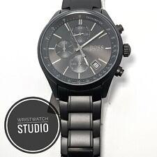 New Men's Hugo Boss Watch HB1513676 Grand Prix matte Black Chronograph Watch