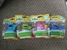 4x Sesame Street Friends Oscar Cookie Monster Grover Cake Topper Figures Hasbro