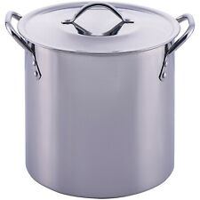 8-Quart Stainless Steel Stock Pot Lid Cooking Kitchen Soup Stew Sauce Stockpot