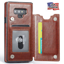 Leather Wallet Magnet Flip Cover Thin Slim Case For Samsung Galaxy Note 9/8