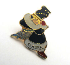 New listing Eskimo Angel Girl with Wings & Alaska State Flag Enameled Hat Lapel Tie Tack Pin