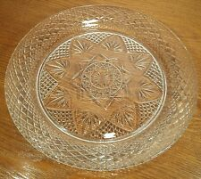 """Cristal D'Arques Durand Antique Clear Glass 10"""" Dinner Plate(s) UNUSED COND!"""