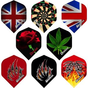 Designa Dart Flights Standard 1-10 Sets Mixed Designs Two Tough Strong