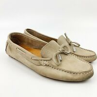 Mercanti Fiorentini Womens Tan Beige Suede Leather Driving Loafers Shoes Sz 7.5