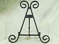 ONE (1) Large Easel BLack Metal Display Stand Great for Plates Fossils and More!