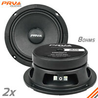 "2x PRV Shallow 6.5"" Midrange Speakers PRO Audio 200 Watts 8 Ohm 6MR200A 6"" SLIM"