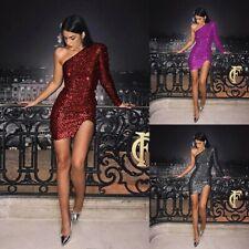 Summer Women's Sexy One-shoulder Short Dress Party Gown Slim Fashion Sundress