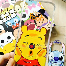 Ultra Thin Cute Couple TPU Crystal Case Cover for iPhone 5 6s 7 8plus X Samsung for Samsung Note 4 Stich