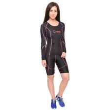 Abbigliamento sportivo da donna di compressione a manica lunga in poliestere