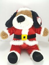 Dan Dee Christmas Santa Clothes Brown Puppy DOG Plush Red Stuffed NEW Large 13""