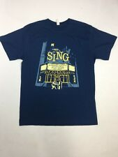 SING Cartoon T-shirt Blue 100% Cotton L