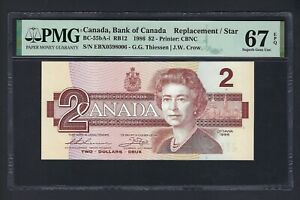 Canada 2 Dollars 1986 BC-55bA-I  Replacement Uncirculated Graded 67