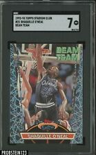 1992-93 Topps Stadium Club Beam Team #21 Shaquille O'Neal RC Rookie HOF SGC 7 NM
