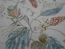 Harlequin Curtain Fabric 'Amborella' 2.8 METRES 280cm Olive/Seaglass Linen Mix