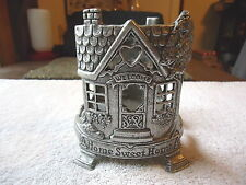 "Vintage Carson Pewter Glass Candle Holder "" BEAUTIFUL COLLECTIBLE USEABLE ITEM """